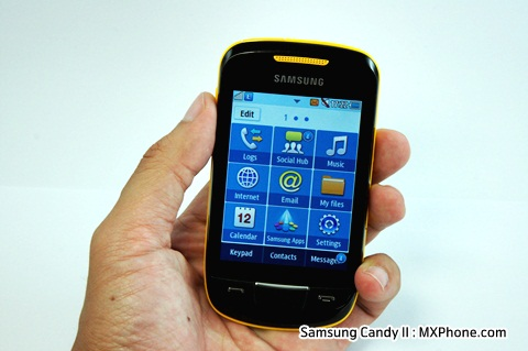 Samsung Candy II S3850 samsung review