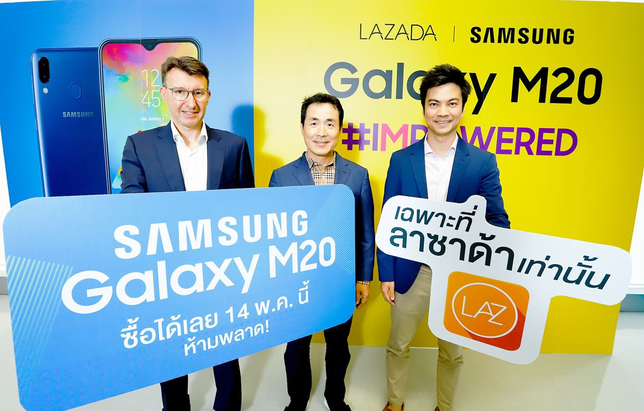 You will buy Samsung Galaxy M20 on LAZADA Application.