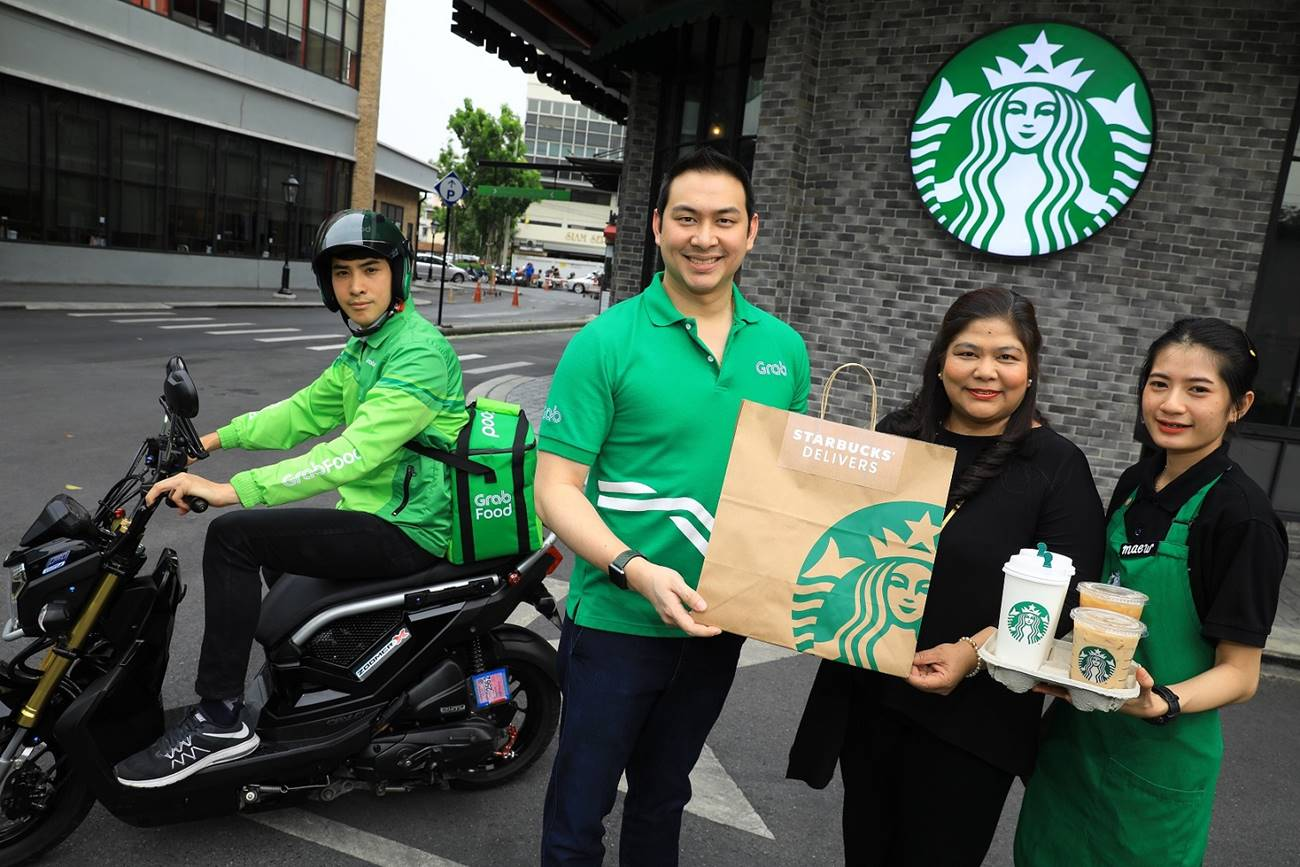 Starbucks and Grab Launch Delivery Service