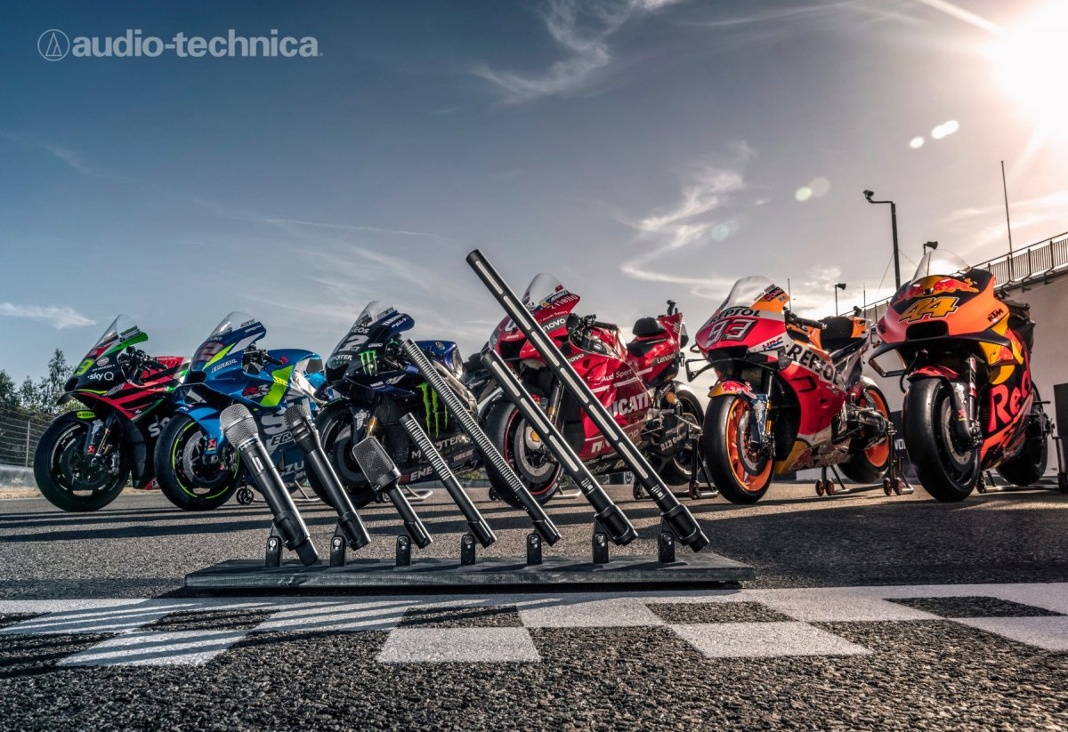 AUDIO-TECNICA APPOINTED MOTOGP™ MICROPHONE AND MONITOR HEADPHONE SERVICES SOLUTIONS PROVIDER
