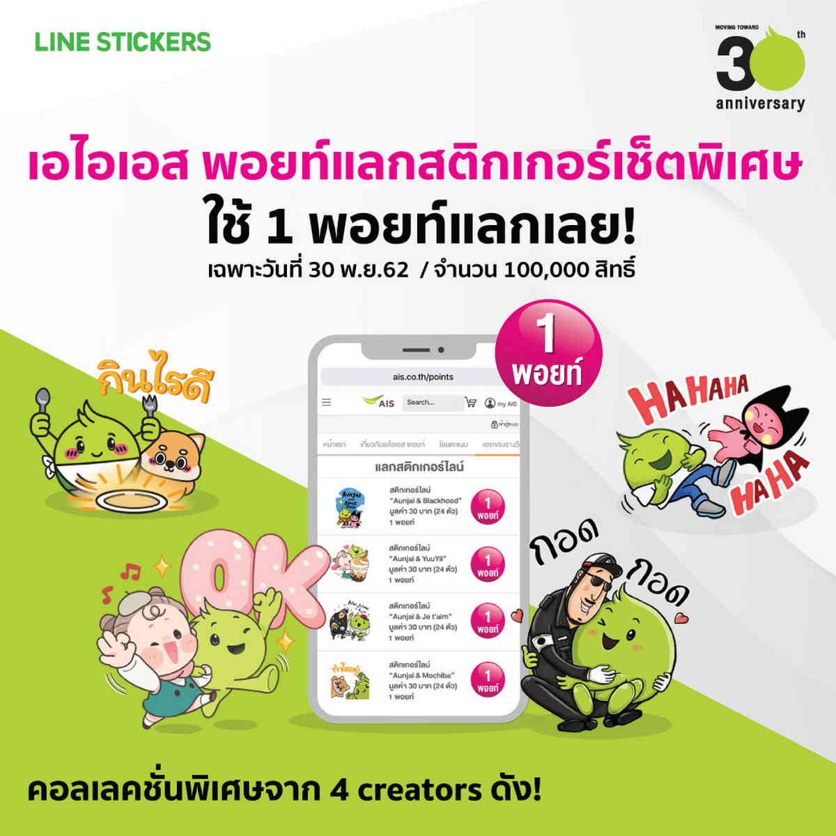 AIS Points and Line sticker