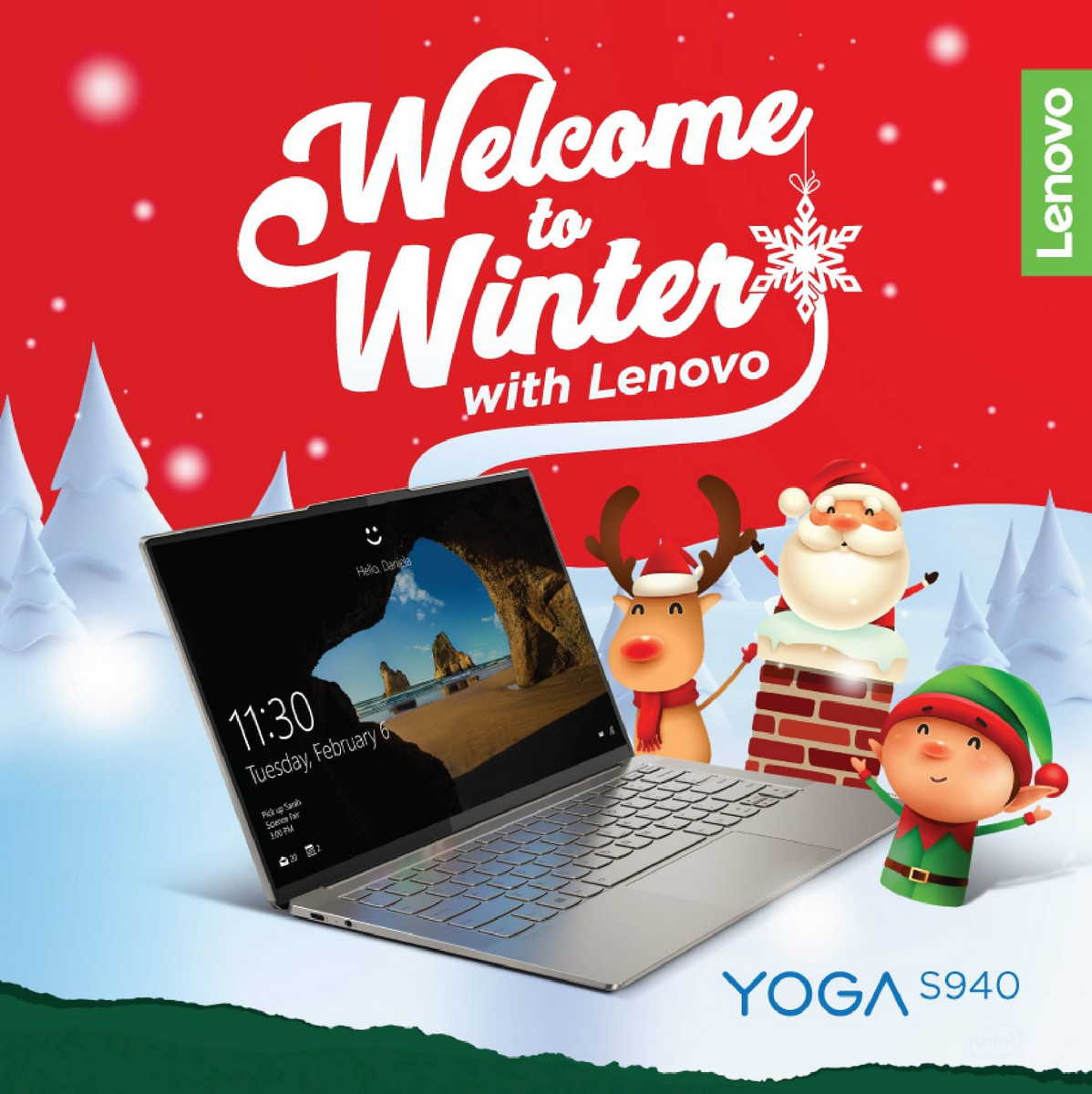 welcome to winter with Lenovo