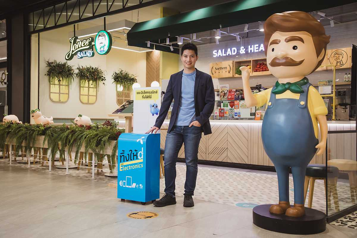 dtac Think Hai D partners with Jones' Salad to provide e-waste disposal services to promote food safety